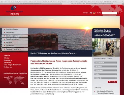 WebportalHamburg Süd Frachtschiffreisen